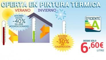 La pintura térmica aislante te permite ahorrar hasta un 40% en aire acondicionado