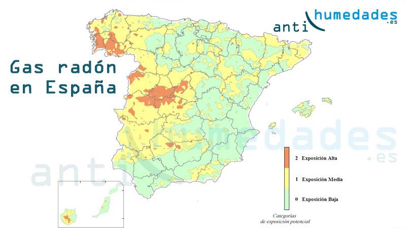 Mapa Del Radon En Espana.Mapa Gas Mortal Espana Foro Coches