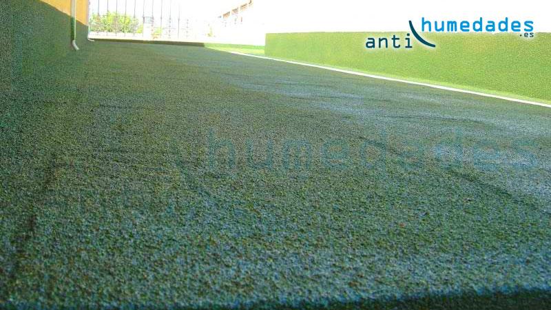 Corcho proyectado para aislamiento e impermeabilización de terraza