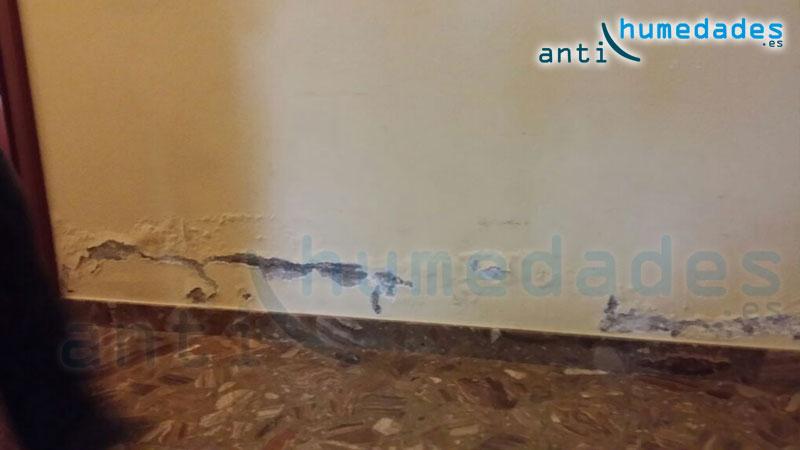 Problemas de humedad capilar en paredes