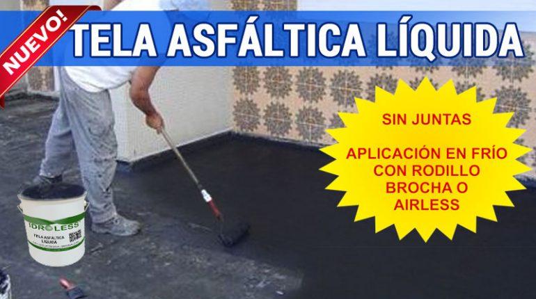 Impermeabilización de cubiertas, tejados, azoteas ... con tela asfáltica líquida