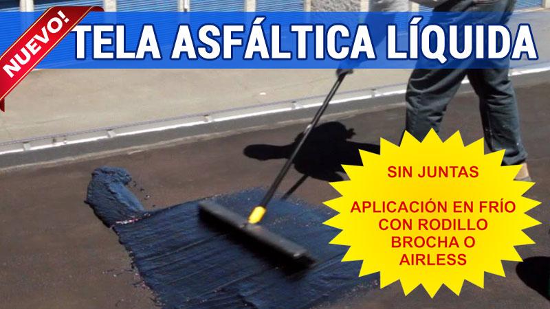 La Tela Asfáltica Líquida permite una impermeabilización continua sin soldaduras ni solapes